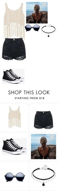 """""""Casual..kinda"""" by magcon-o2l-fo-life ❤ liked on Polyvore featuring Topshop and Converse"""