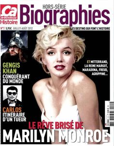 Ca M'Interesse: Hors Serie Biographies - July/August 2012, magazine from France. Front cover photo of Marilyn Monroe by Milton H. Greene, 1954