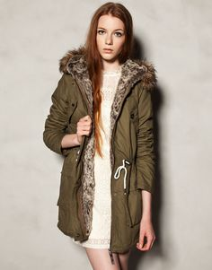 GREEN HOODED COTTON PARKA - NEW PRODUCTS - WOMAN - Ukraine