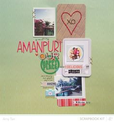 Amanpuri by amytangerine at Blue Note Studio Calico, Scrapbooking Layouts, Scrapbook Cards, Amy Tan, Small Business Saturday, Layout Inspiration, Altered Books, Mini Albums, Paper Crafts