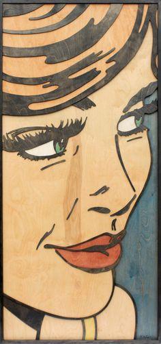 pop art on wood!