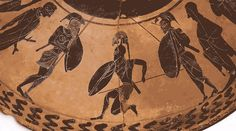 """""""Combat,"""" part of the Ure Discovery series from Panoply animating Greek vases (GIF Hrag Vartanian/Hyperallergic, via YouTube)"""