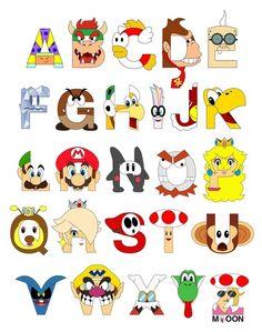 Super Mario Alphabet #nintendo #mario #alphabet