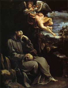 TICMUSart: St Francis Consoled by Angelic Music - Guido Reni (1605) (I.M.)