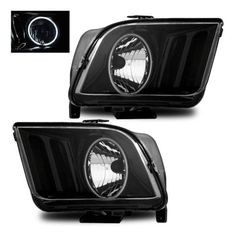 SPPC Headlights Black CCFL Halo For Ford Mustang  Pair *** You can get more details by clicking on the affiliate link Amazon.com.