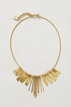 Could be interesting to try with agates... Fluttered Brass Necklace #anthropologie