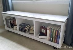 Bob Vila DIY storage options, great roundup of repurposed items used for storage. LOVE this bench made from a bookcase!!!