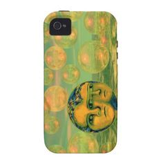 Consciousness – Gold and Green Awakening Vibe iPhone 4 Covers Abstract