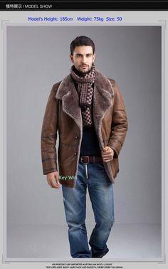 Mens Vintage 70s SHEARLING Coat . Winter SUEDE Leather Sheepskin ...
