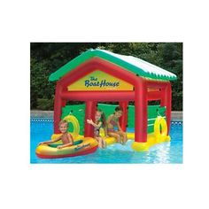 Boat House Swimming Pool Floating Habitat Pool Float Toy. I'm probably too big for this. but still soo fun