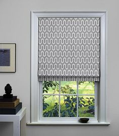 Dwell Studio / Shade Store - will be all black with gray flecks black out shade. Valance Window Treatments, Custom Window Treatments, Window Coverings, Window Valances, Pleated Curtains, Blinds Curtains, Burlap Curtains, Roman Blinds, Custom Drapes