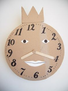 Nice! Make a #TOY clock from #cardboard via http://atelierpourenfants.blogspot.com.au/2010/06/horloge.html