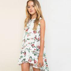 Adolescentes meninas de verão flor vestido de trajes princesa 10Y adolescente menina roupas para meninas de 13 anos roupas da moda para adolescentes em Vestidos de Mãe & Kids no AliExpress.com   Alibaba Group