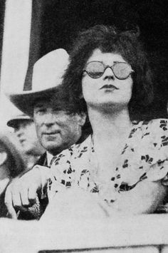 Clara Bow and William S. Hart at a rodeo, 1931.