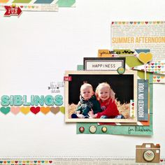 @Jessica Carter Scraptastic kit club, July Rock Lobster kit. @Simple Stories I {heart} Summer @American Crafts