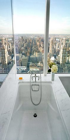 Look it! I'd love to take a bath with a view like that!