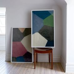 Felt Wall Art   west elm - looking at the blue/green one. We'd hang it sideways