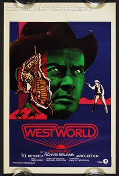 Westworld (1973) - Original Belgian Movie Poster