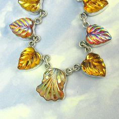 Vintage Glass and Sterling Silver Necklace