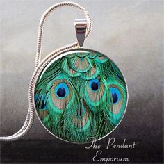 Peacock Feathers photo pendant