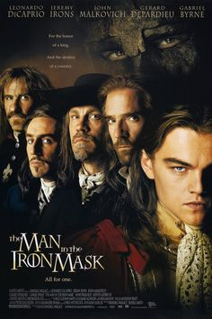 The Man in the Iron Mask (1998) starring Leonardo DiCaprio, Jeremy Irons, John Malkovich, Gerard Depardieu & Gabriel Byrne