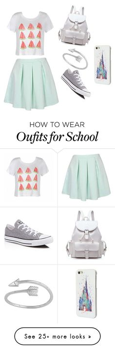 """""""first day of school"""" by kjkjmcra on Polyvore featuring Ally Fashion, Converse and Disney"""