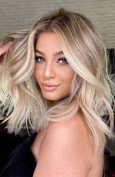 Blonde Hair Shades, Blonde Hair Looks, Ash Blonde, Natural Blonde Highlights, Makeup For Blonde Hair, Best Blonde Hair, Highlighted Blonde Hair, Medium Length Hair Blonde, Short Blond Hair