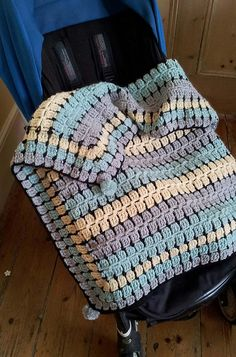 Ravelry: Retro Baby... Buggy Blanket pattern by thredHED