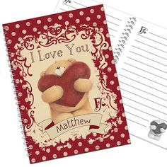 Personalised Forever Friends Love Notebook  from Personalised Gifts Shop - ONLY £7.95