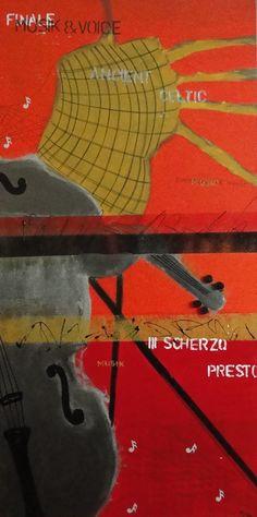 Acrylic poster on canvas 100cmx50cm