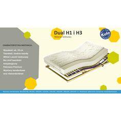 Dual H1/H3 to innowacyjny materac lateksowy o dwóch twardościach: H1 (miękki), a z drugiej strony H3 (twardy) - czyli komfortowa miękkość z solidnym podłożem. Szczegóły na stronie: http://zmateracami.pl/47-dual-h1-h3-materac-lateksowy.html