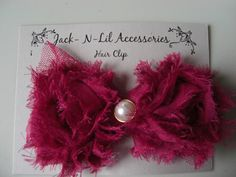 Hair Clip by JacknLilAccessories on Etsy, $3.95