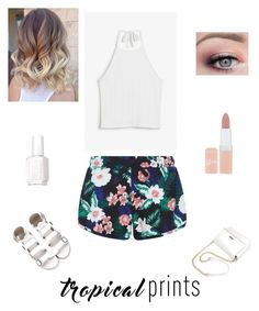 """""""Tropical Prints"""" by camyelle on Polyvore featuring interior, interiors, interior design, home, home decor, interior decorating, New Look, Monki, Rimmel and Essie"""