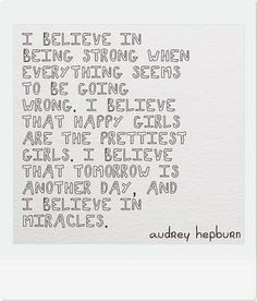 in love with this quote by audrey hepburn