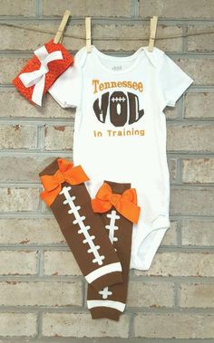 Tennessee Baby  UT outfit  Volunteer Baby  by StitchingWithEllie