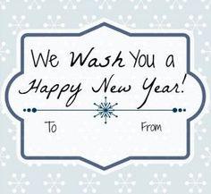 "Fun printable tags for DIY gift ""We Wash You a Happy New Year"" #DIY #printable #gift"