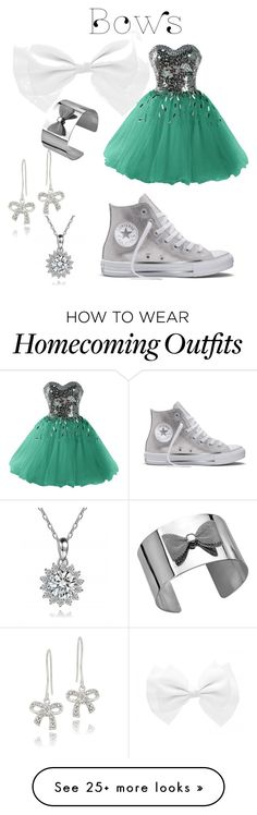 """""""bows"""" by melissalovonwilliams on Polyvore featuring Converse and DB Designs"""