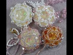 ▶ Beaded Cabochon Ornaments - YouTube