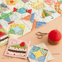quilt blocks...I like the cake. Who doesn't! Japanese come up with the most adorable designs