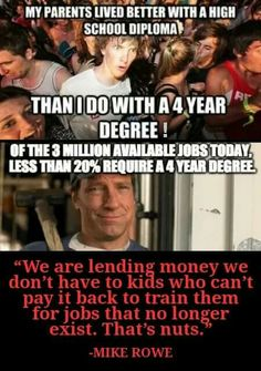 Mike Rowe is right! Truth Hurts, It Hurts, Great Quotes, Inspirational Quotes, Motivational, Jesse Ventura, Mike Rowe, The Knowing, Liberal Logic