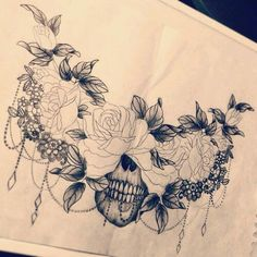 I like this for a chest piece cover up, maybe with out the skull