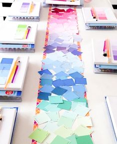 DIY Paint Chip Table Runner for a Watercolor Birthday Party Birthday Painting, Art Birthday, Birthday Party Themes, Birthday Table, Birthday Ideas, Birthday Recipes, Third Birthday, Birthday Celebrations, Painting For Kids