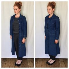 I had one of these denim trench coats in the 70's. I want one now!!