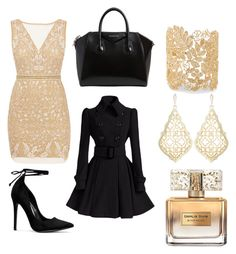 """dress"" by martinastoeva ❤ liked on Polyvore featuring Nicole Miller, Givenchy, Sole Society and Kendra Scott"