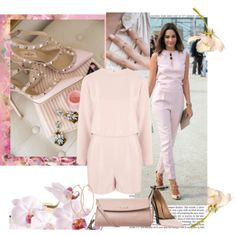 """""""Pinky jumpsuit"""" by sarapires on Polyvore"""