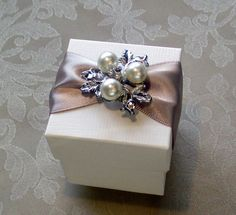 Beautiful Pearl and Diamante Decorated by QuillsWeddingFavours, £3.50 www.quillsweddingstationery.co.uk https://www.facebook.com/pages/Quills-Wedding-Stationery/278003989009997