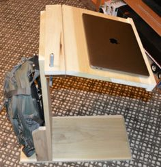 A few weeks ago I posted a picture on Facebook of my DIY Laptop Stand. Here is the complete how to on building it. Includes shopping list, cut list, and assembly instructions. http://www.jpaul.me/2016/12/diy-laptop-stand/