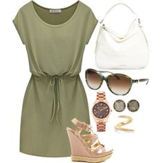 army greens by shoesclothesbagsaddict on Polyvore featuring polyvore fashion style JustFabulous Jimmy Choo Michael Kors Shaun Leane Salvatore Ferragamo