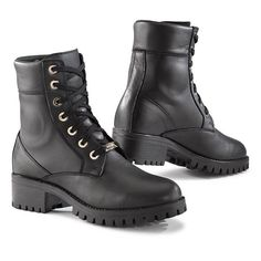 TCX Lady Smoke Waterproof Boots - Black from the UK's leading online bike store. Free UK delivery over and easy returns on our range of over products. Casque Shark, Botines Casual, Women's Motorcycle Boots, Classic Harley Davidson, Martens, Online Bike, Women Smoking, Waterproof Boots, Leather