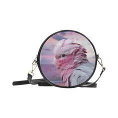 Galah Cockatoo Round Messenger Bag. FREE Shipping. #artsadd #bags #parrots